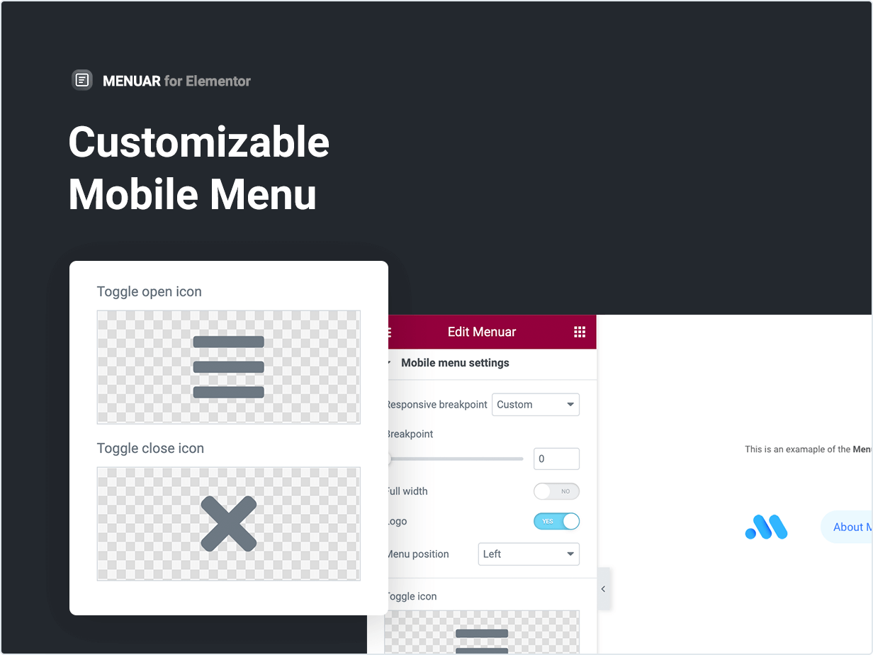 Customizable Mobile Menu