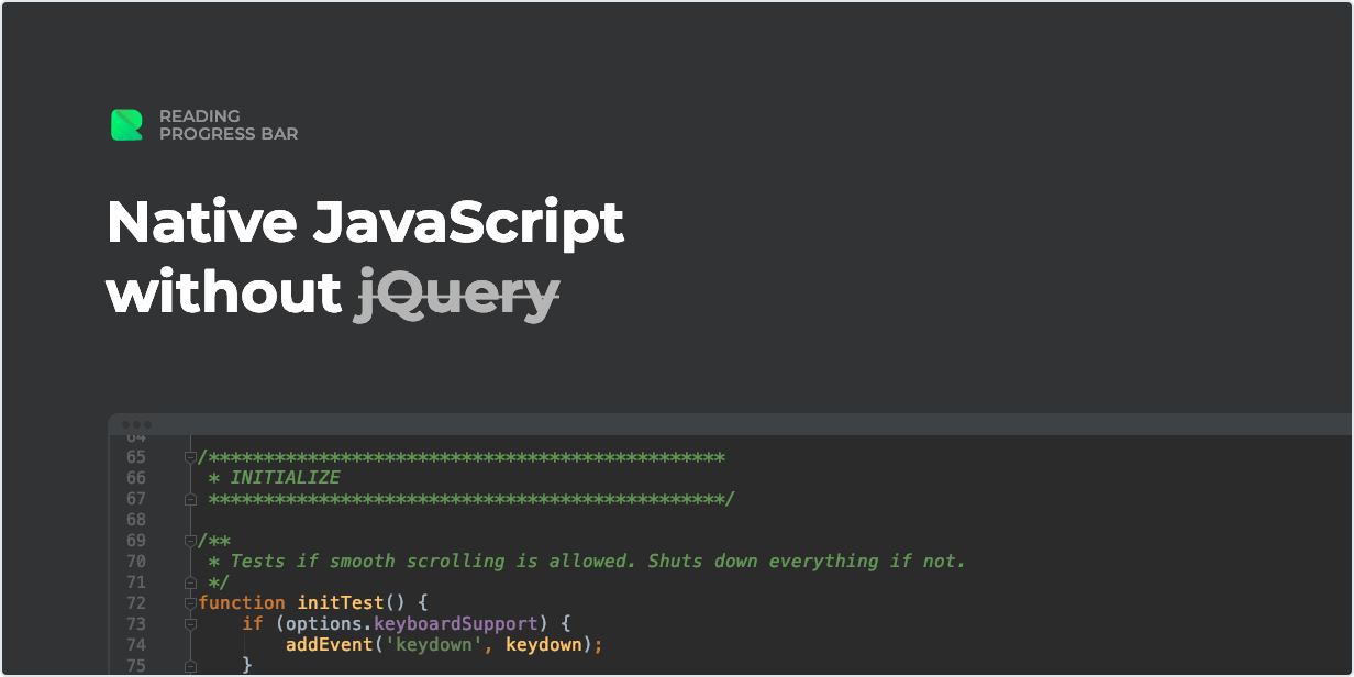 Native JavaScript without jQuery - WordPress Reading Progress Bar