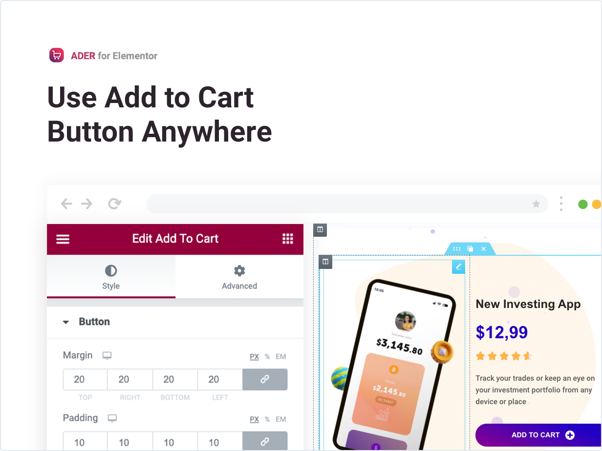 Use Add to Cart Button Anywhere