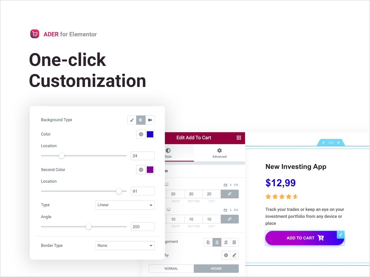 One-click Customization
