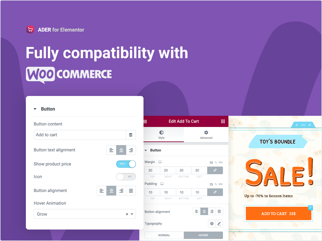 Fully compatibility with Woocommerce