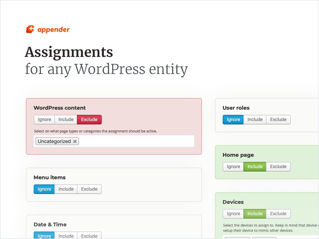 Tugas untuk entitas WordPress apa pun