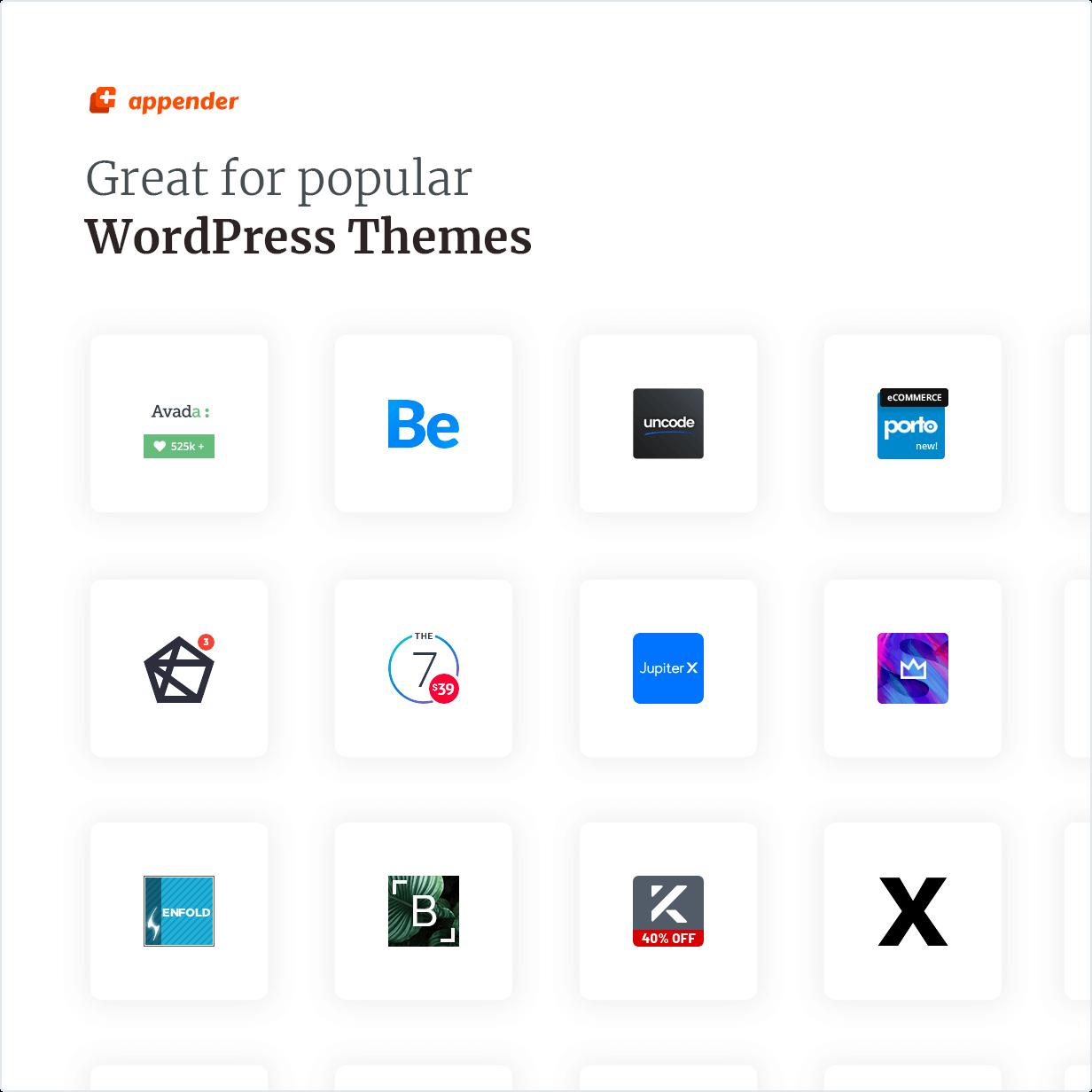 Sangat bagus untuk tema WordPress populer