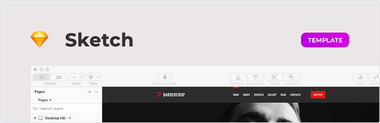 Barbercrop – Hairdressing Template for Sketch