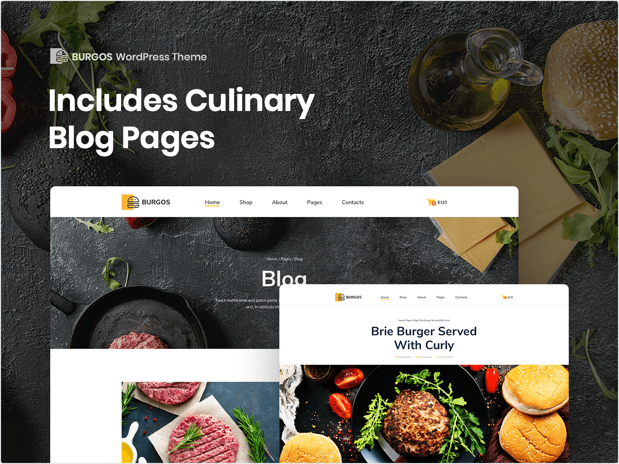 Includes Culinary Blog Pages