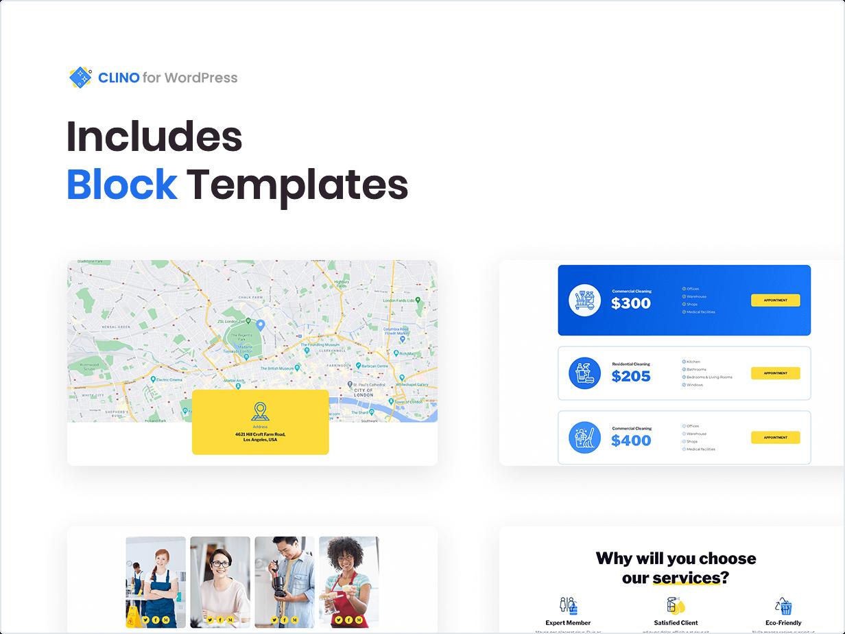 Includes Block Templates