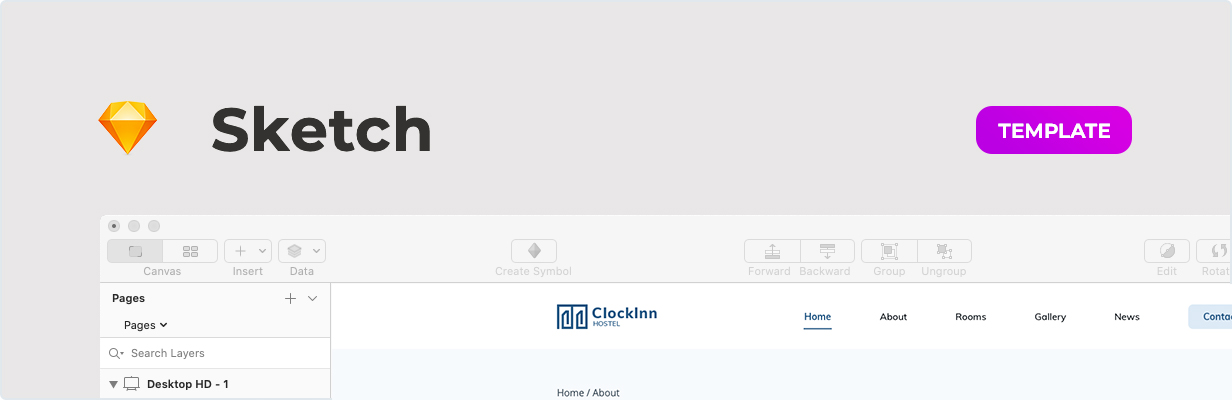Clockinn – Hostel Template for Sketch