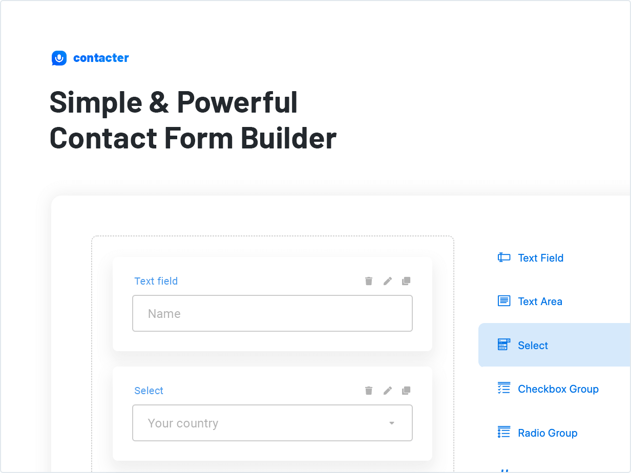 Simple & Powerful Contact Form Builder
