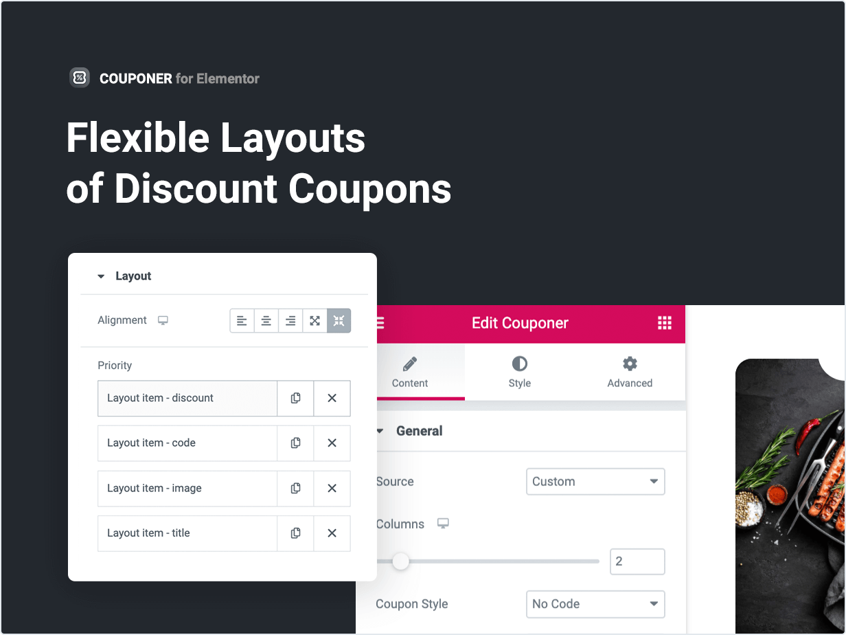 Flexible Layouts of Discount Coupons