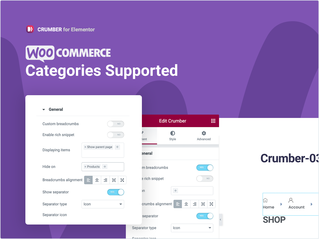 Woocommerce Categories Supported
