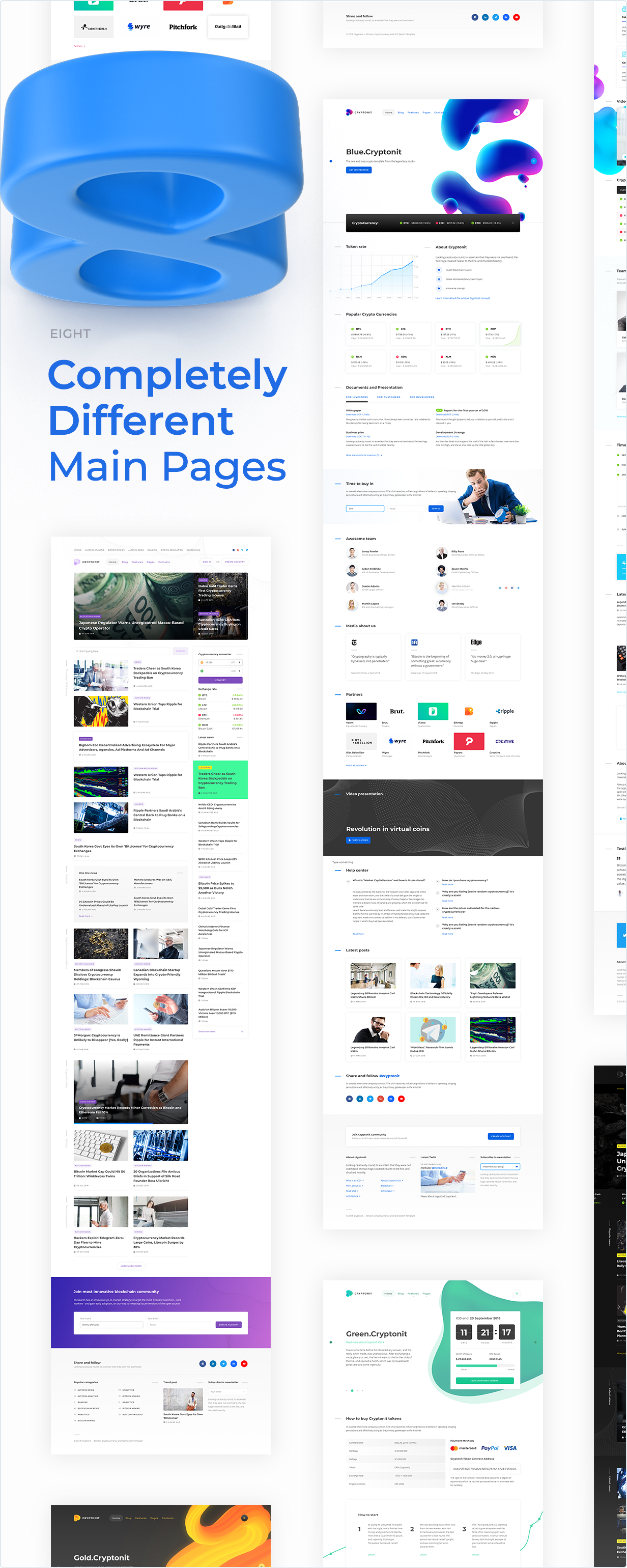 8 Completely different main pages