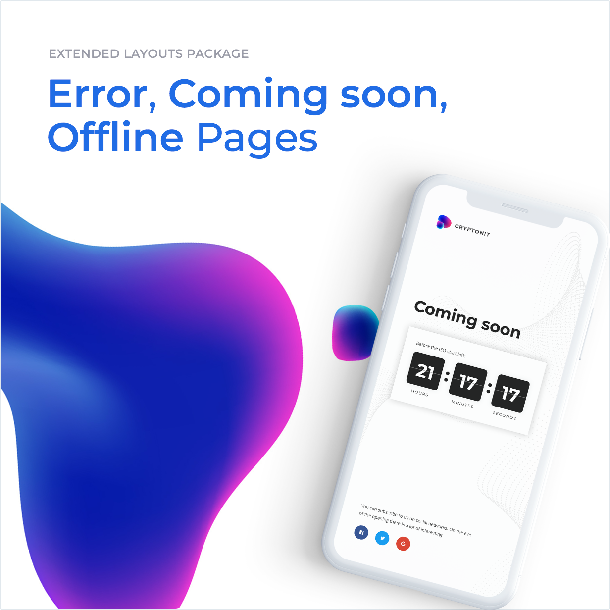 Extended layouts package: Error, Coming soon, Offline Pages