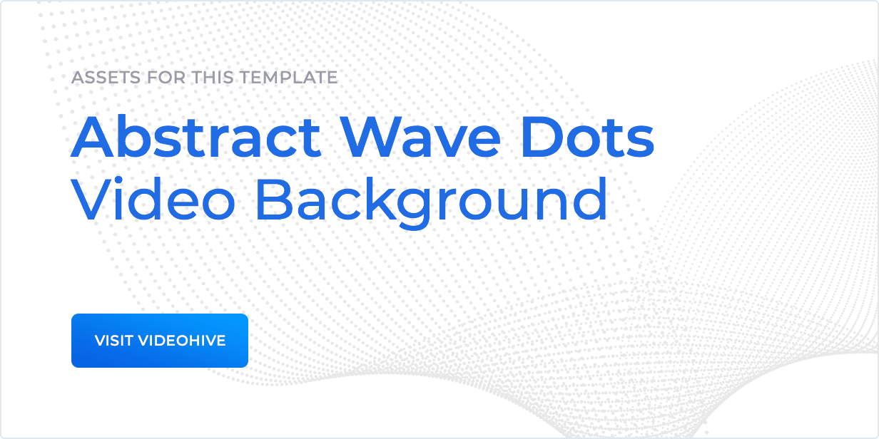 Assets for this template: Abstract wave dots video background