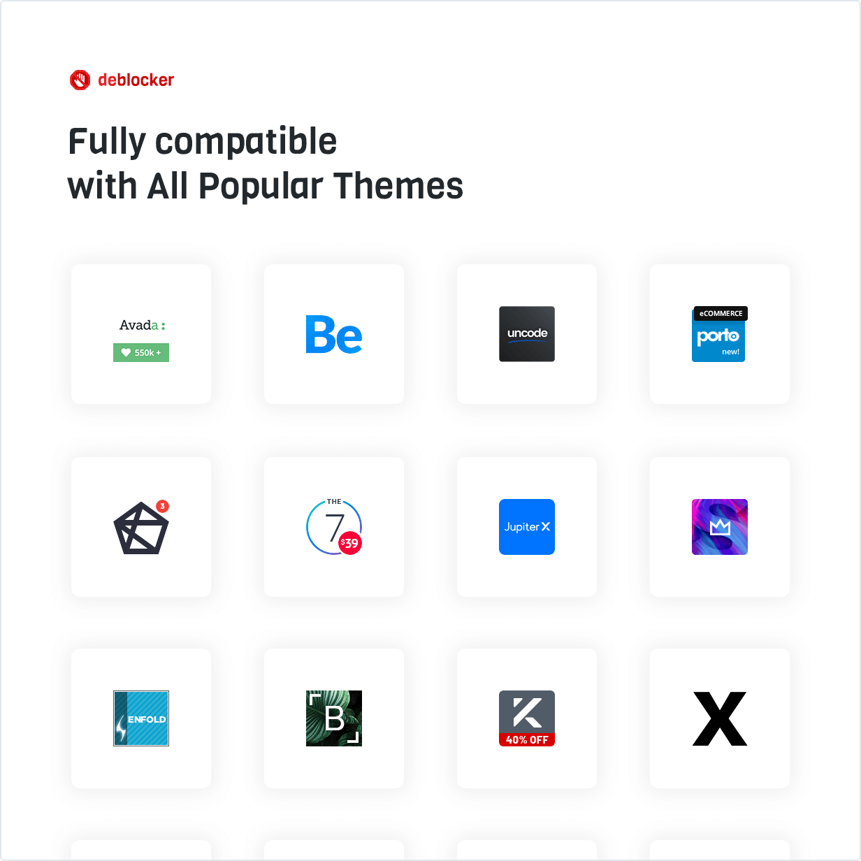 Fully compatible with All Popular Themes