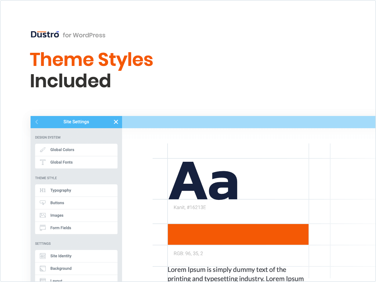 Theme Styles Included