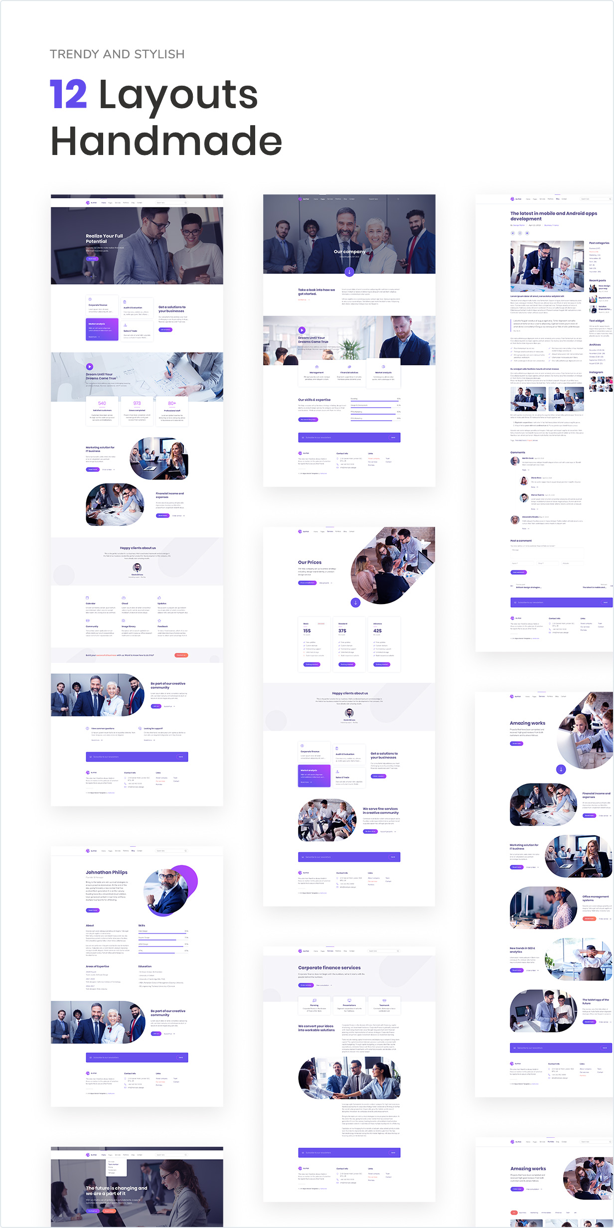 Elipso – Agency Photoshop Template - 1