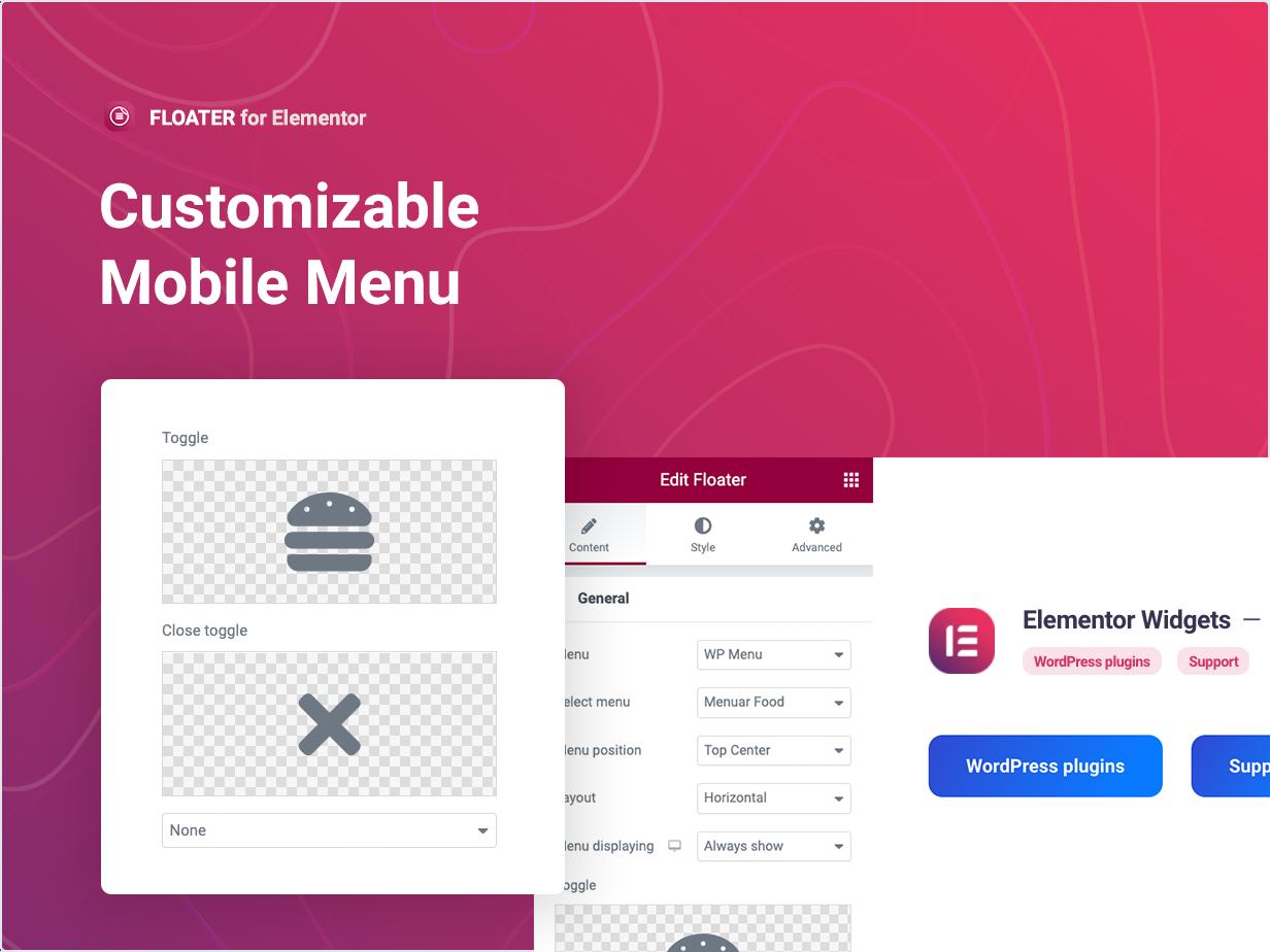Customizable Mobile Menu