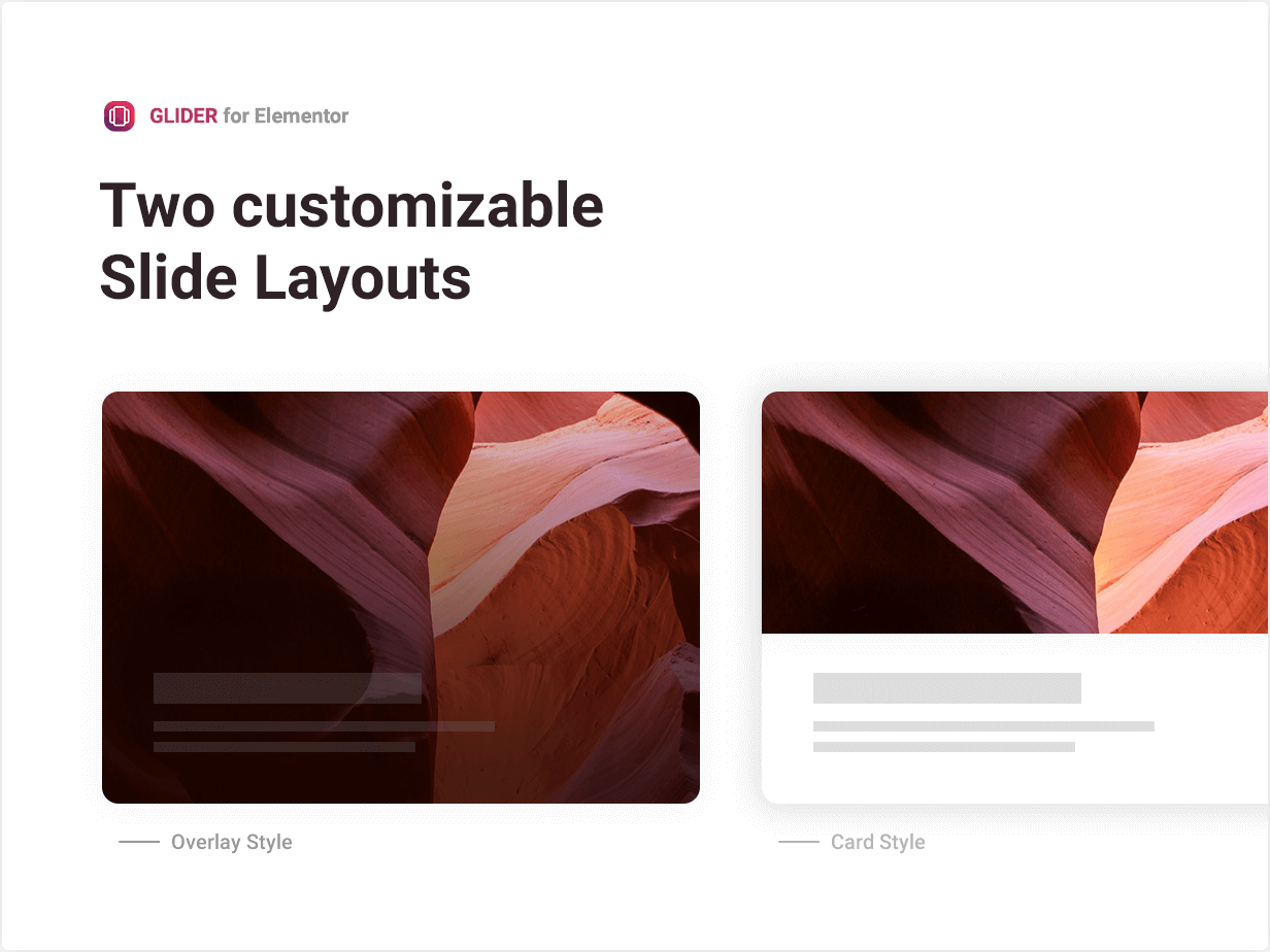 Two customizable Slide Layouts