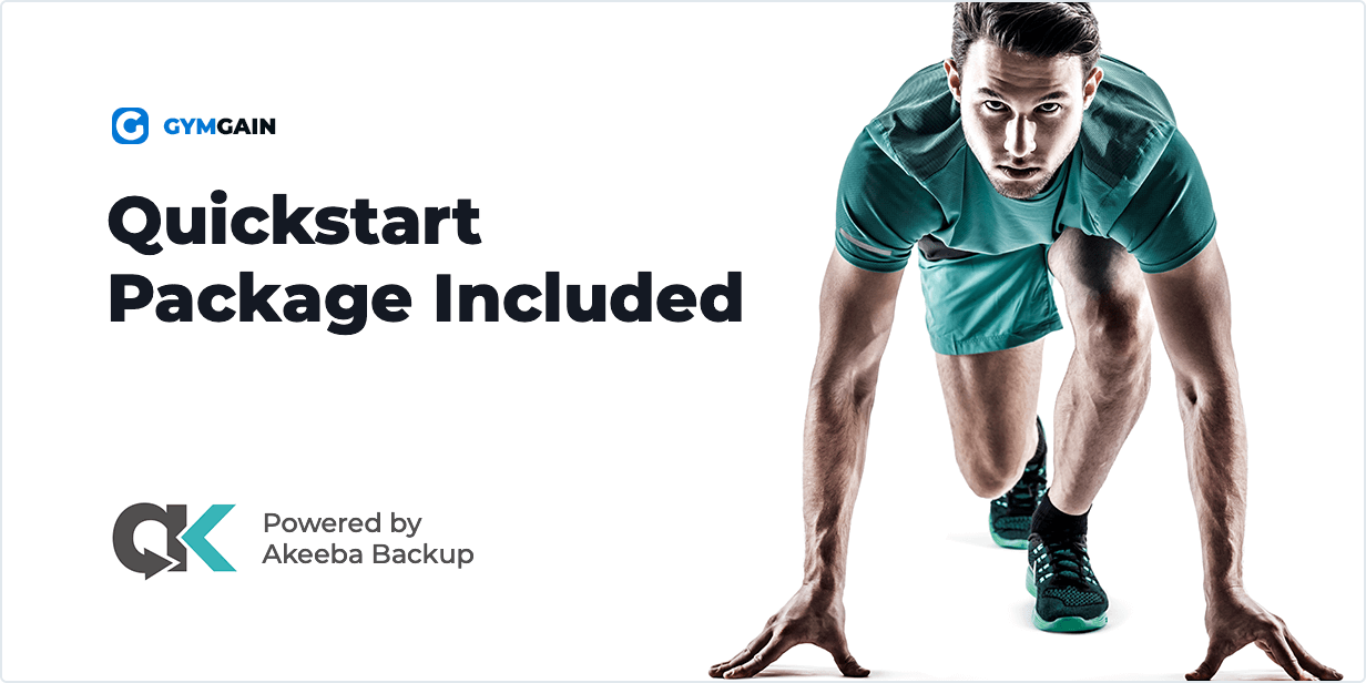 Quickstart Package Included in Sports Joomla Template