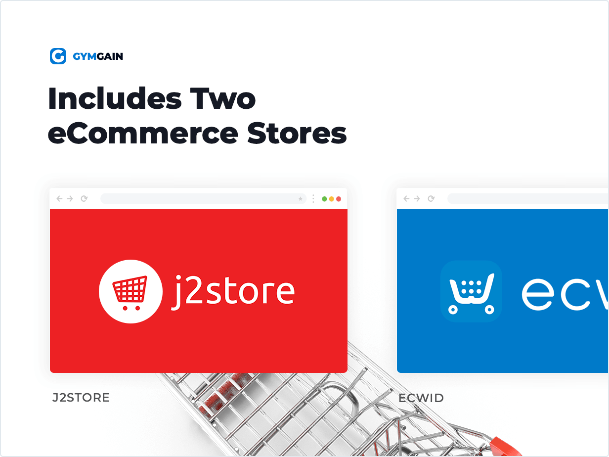 Sports Joomla Template Includes Two eCommerce Stores