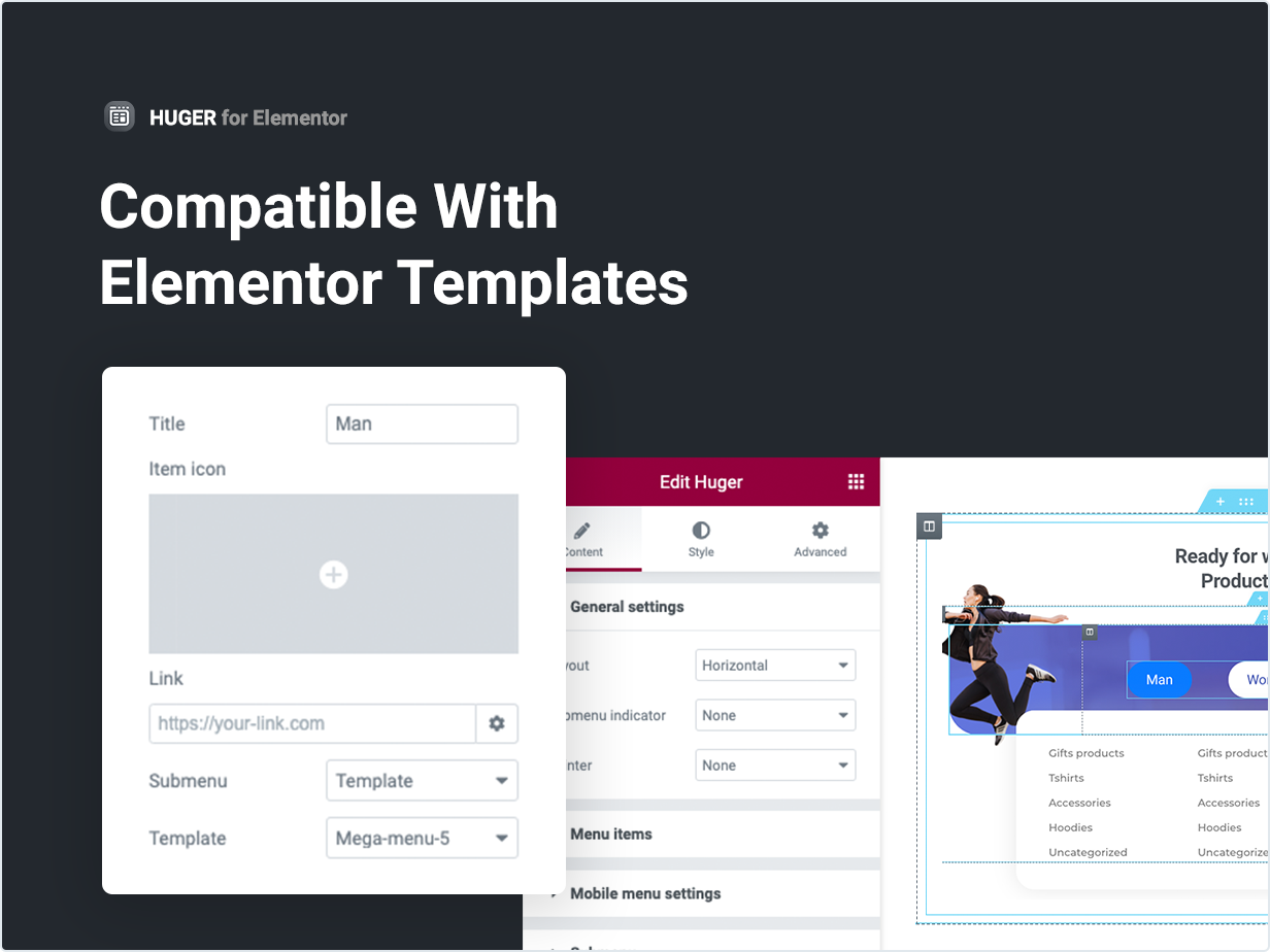 Compatible with Elementor Templates