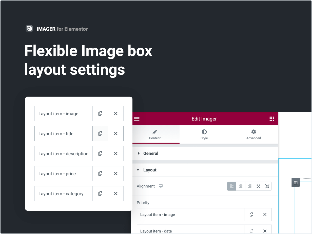 Flexible Image box layout settings