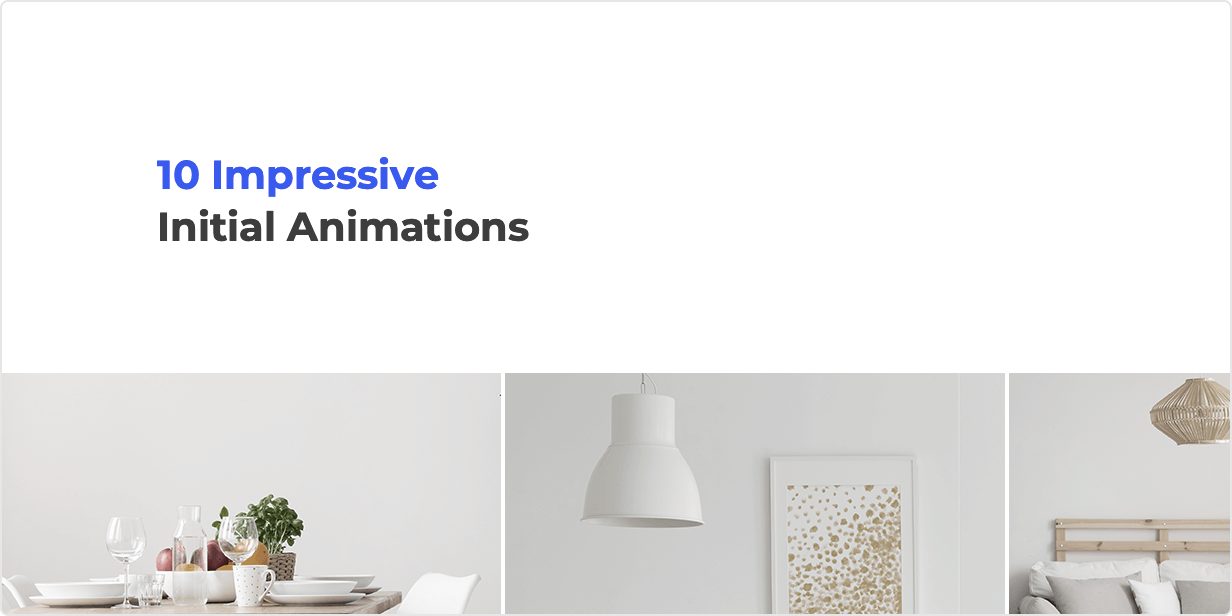 10 Impressive Initial Animations