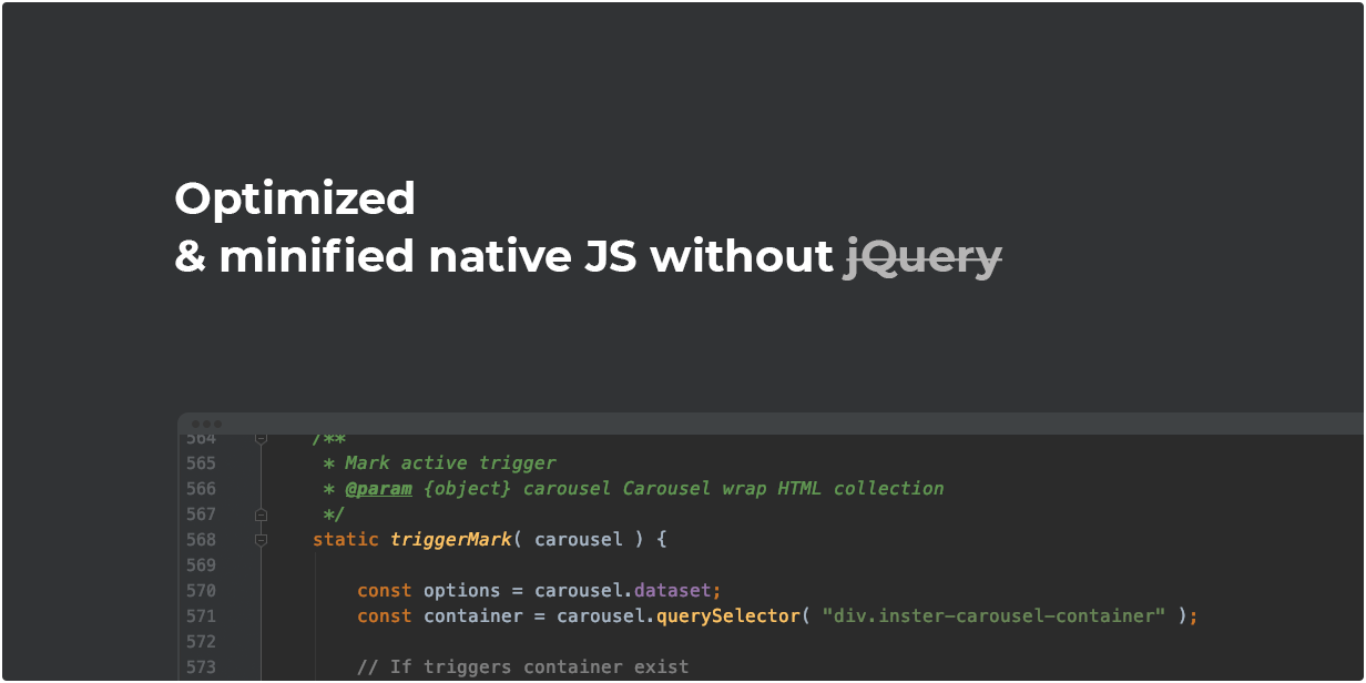 Optimized & minified native JS without jQuery
