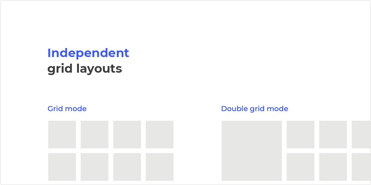 Independent grid layouts