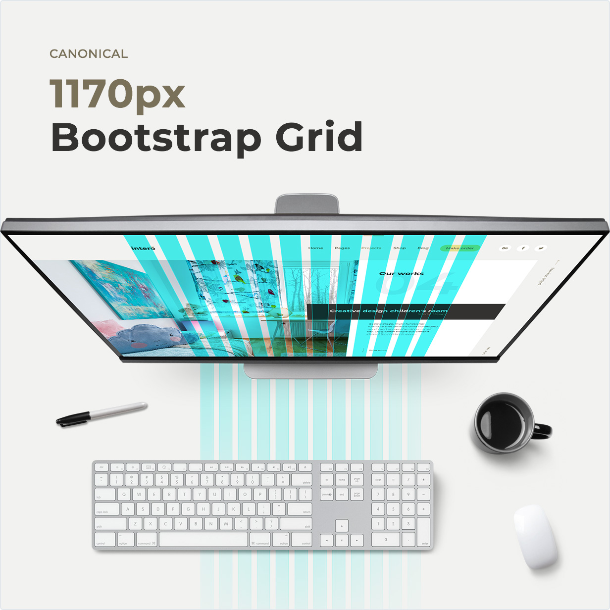 Canoniques – 1170px bootstrap Grid