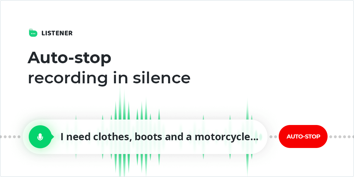 Auto-stop recording in silence