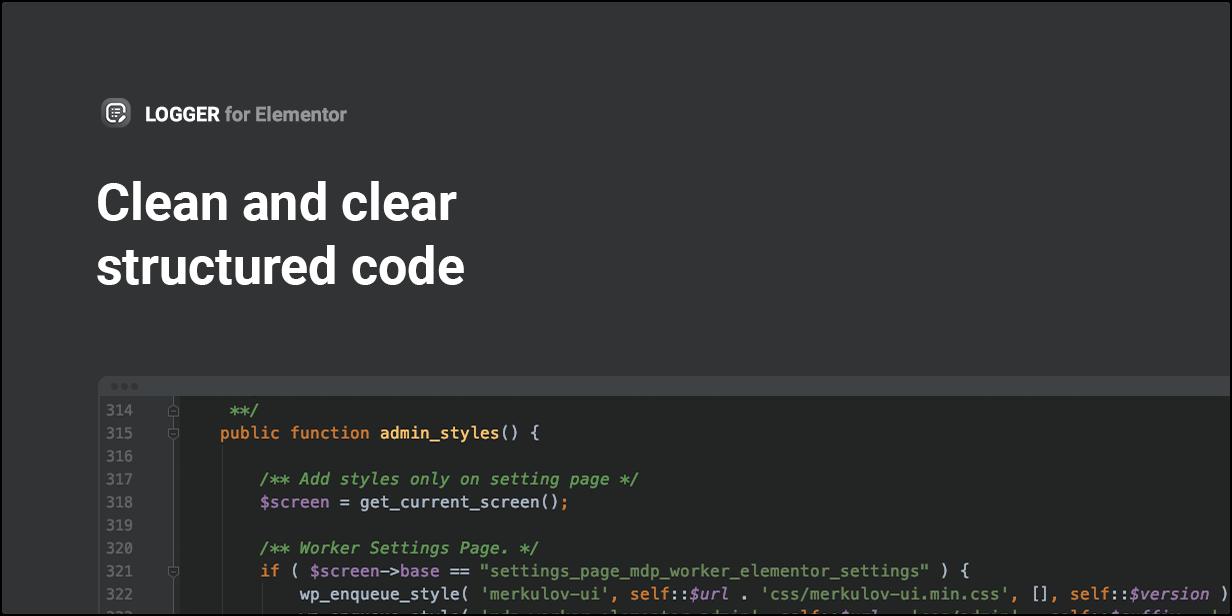 Código estruturado limpo e claro
