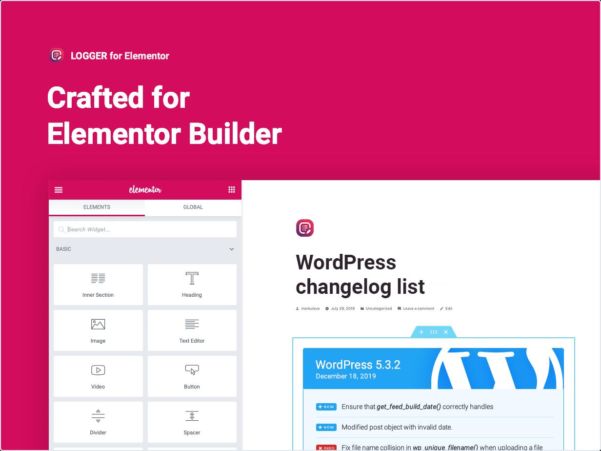 Criado para Elementor Builder