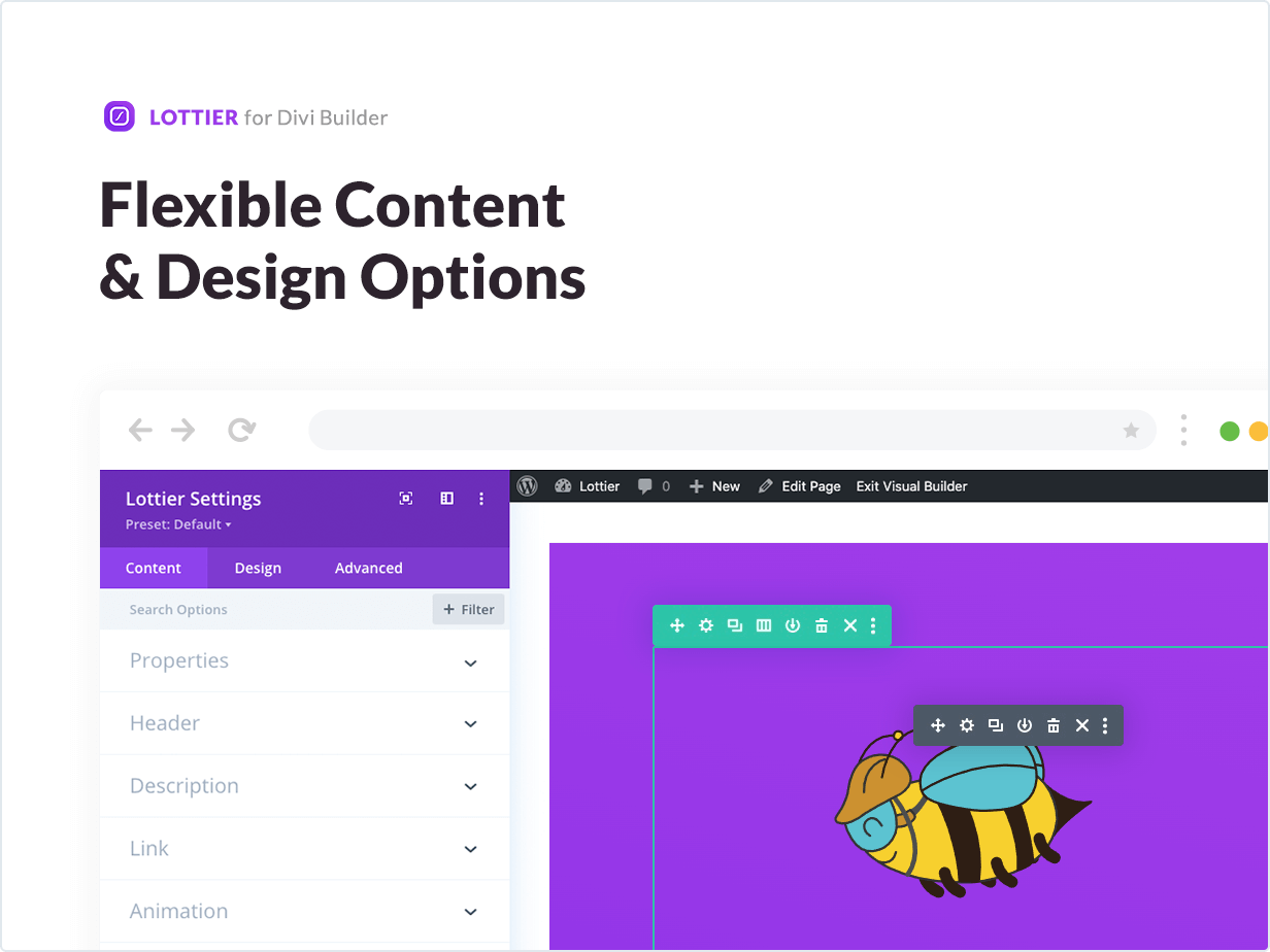 Flexible Content and Design Options