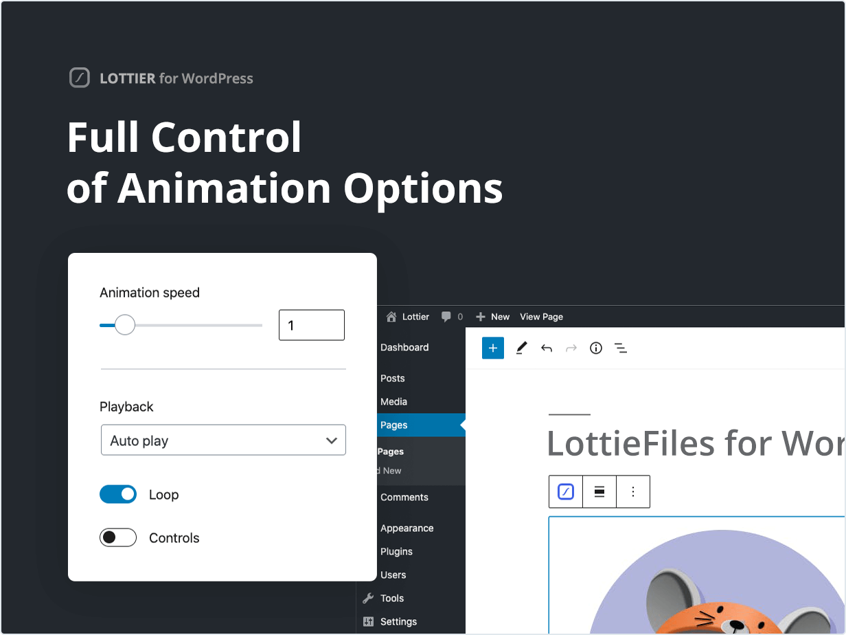 Full Control of Animation Options