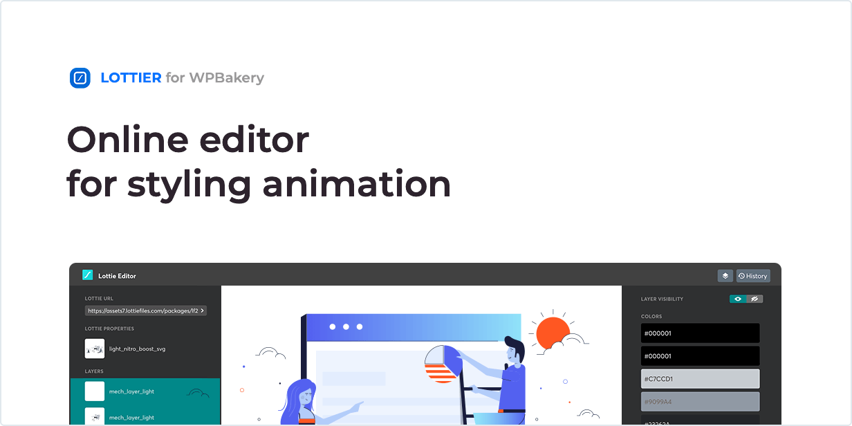 Online editor for styling animation