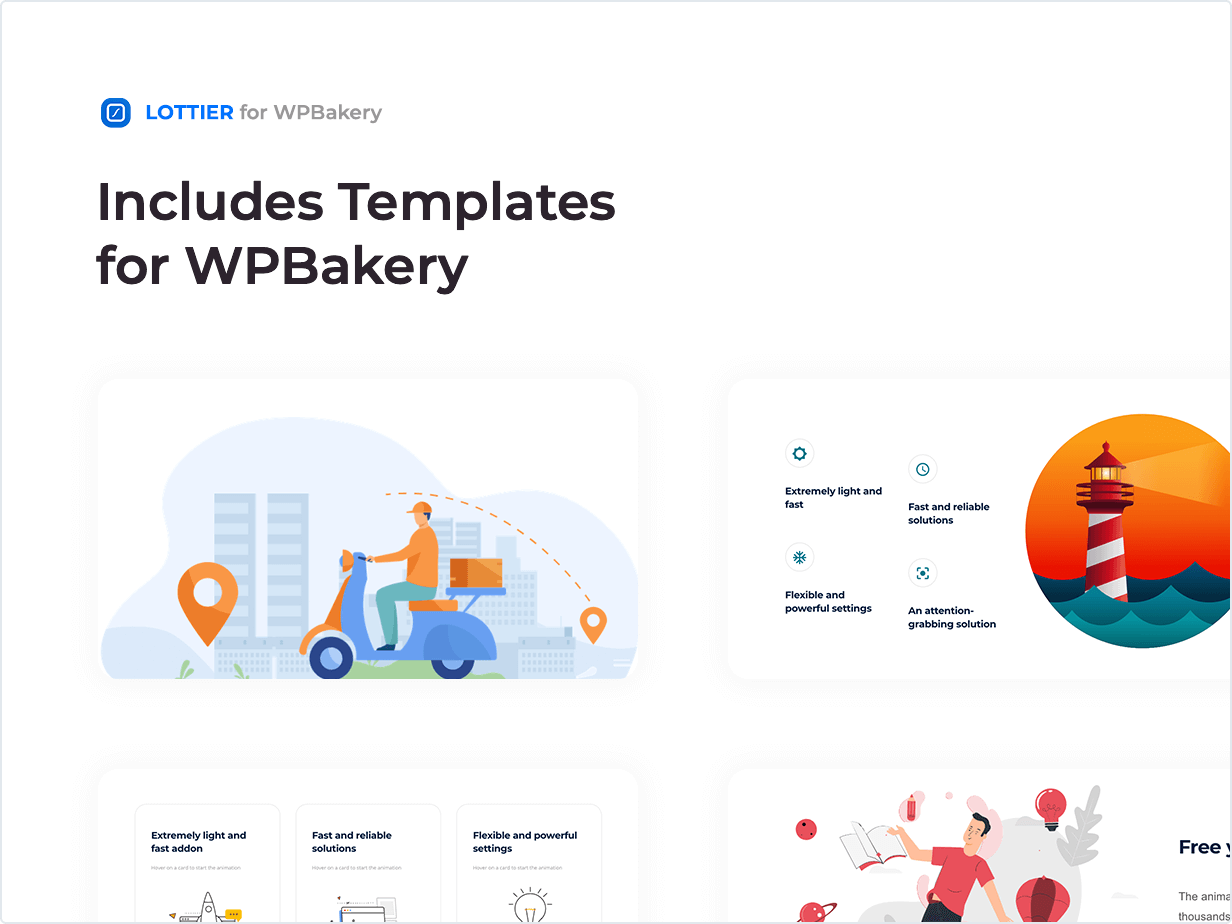 Includes Templates for WPBakery
