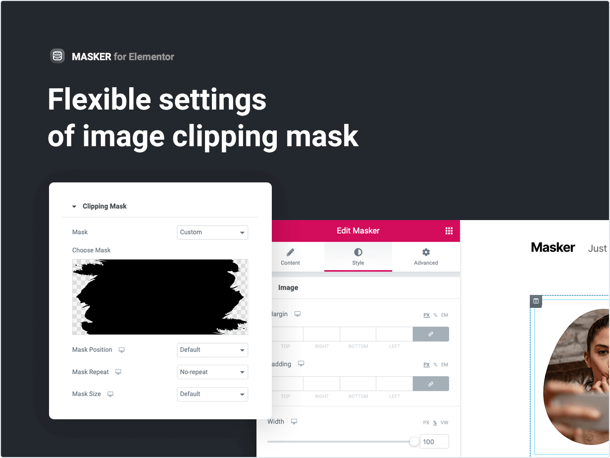 Flexible settings of image clipping mask