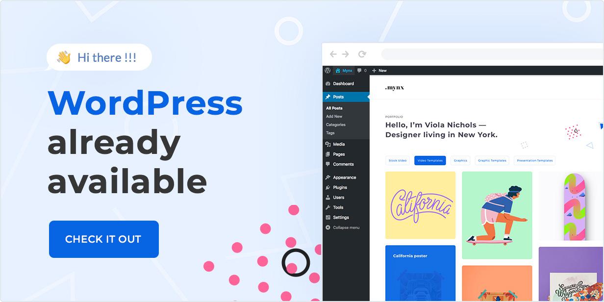 Mynx WordPress Theme is available