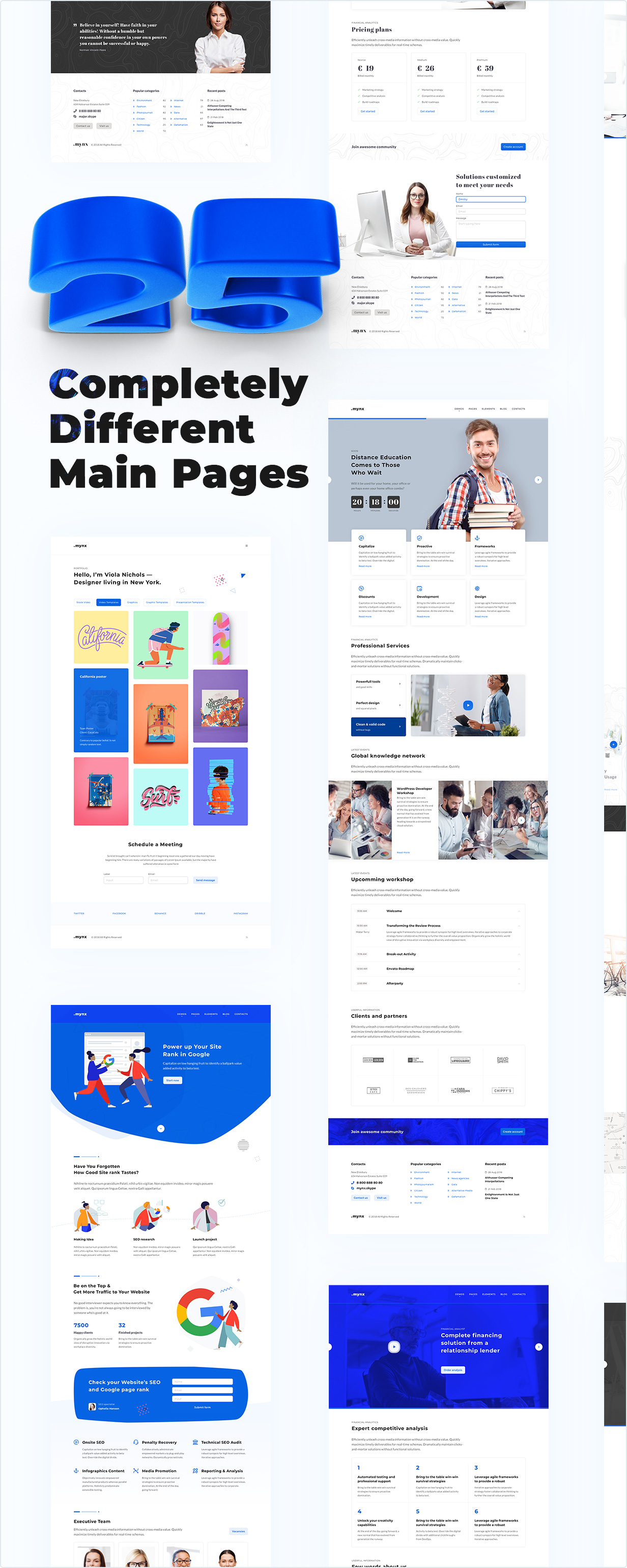 Seven Completely Different Main Pages