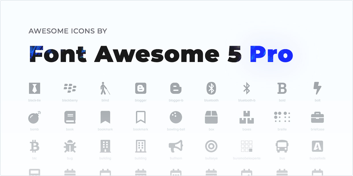 Awesome Icons by Font Awesome 5 Pro