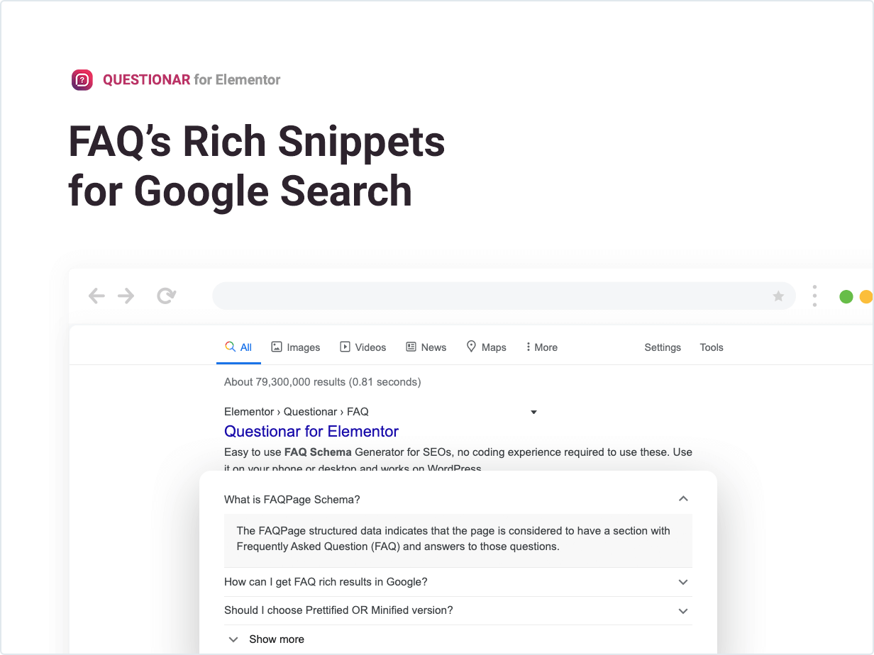 FAQ's Rich Snippets for Google Search