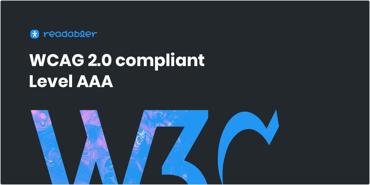 Compatível com WCAG 2.0 (Nível AAA)