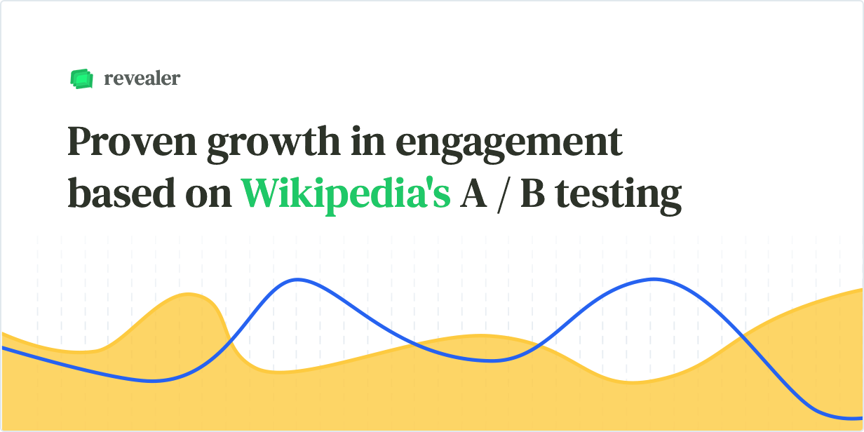 Proven growth in engagement based on Wikipedia's A/B testing