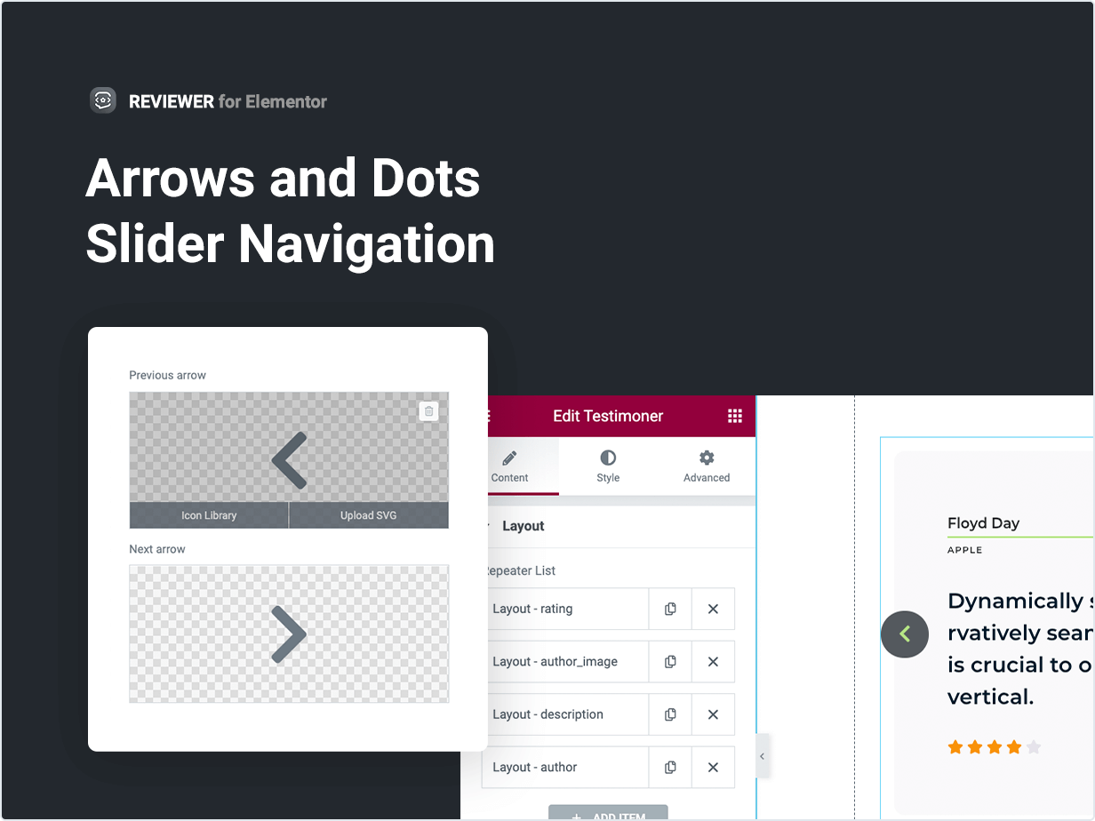 Arrows and Dots Slider Navigation