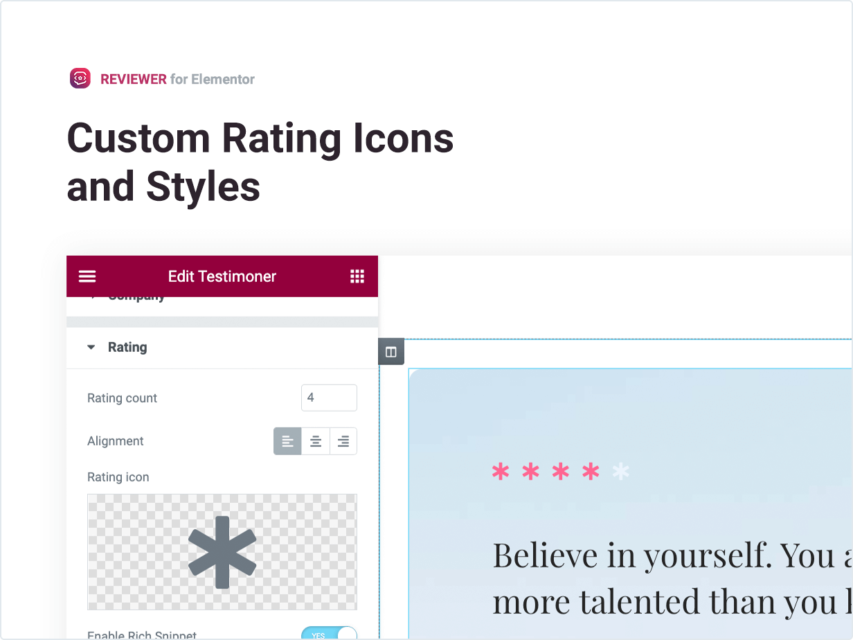 Custom Rating Icons and Styles