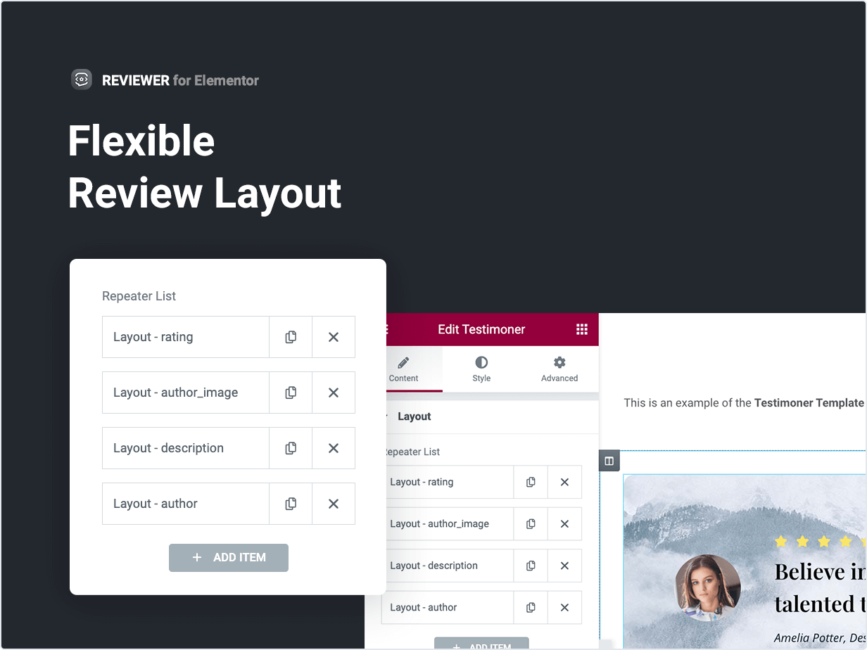Flexible Review Layout