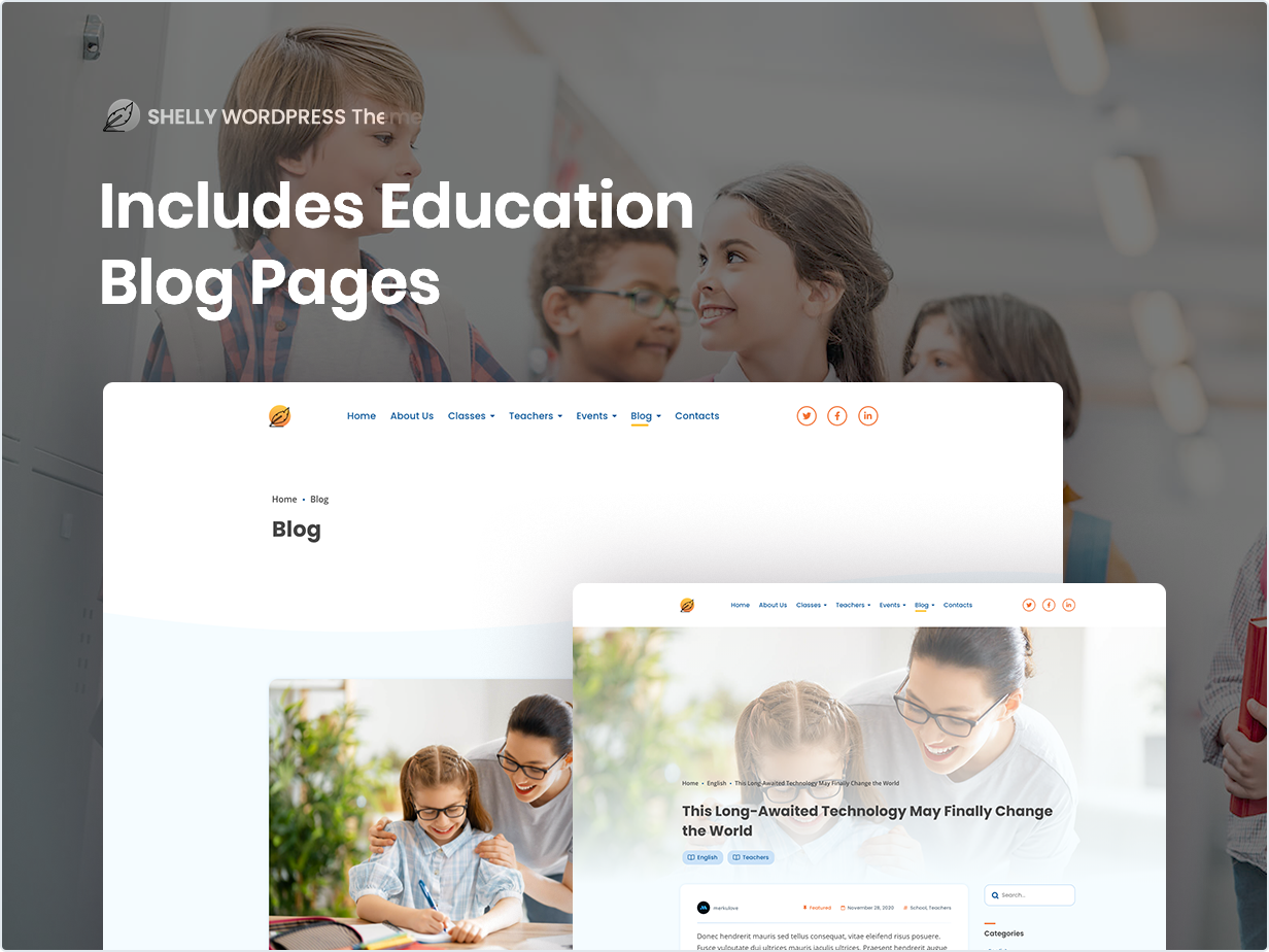 Includes Education Blog Pages