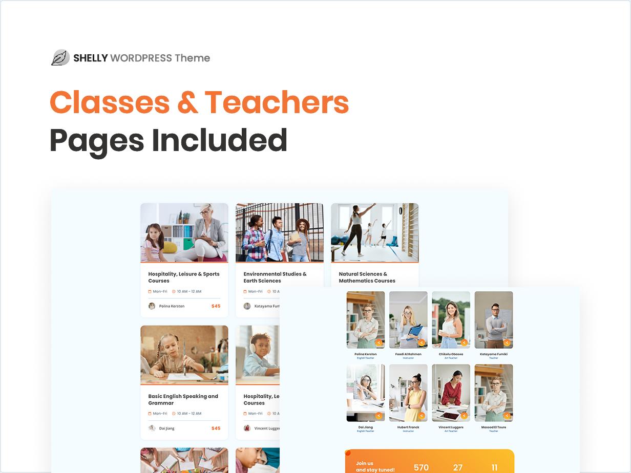 Classes & Teachers Pages Includes