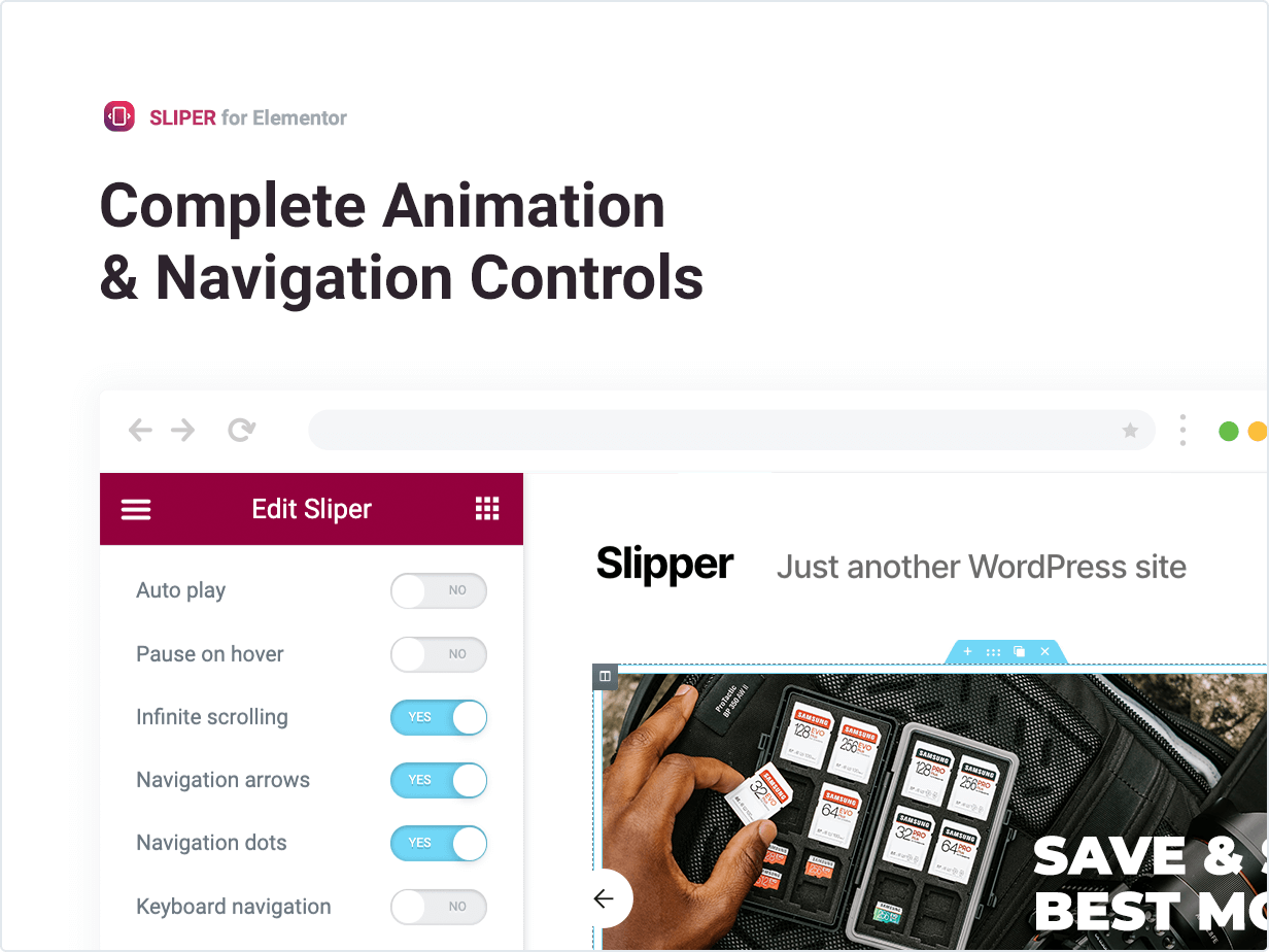 Complete Animation and Navigation Controls